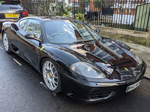 exterior valet, engine cleaning, Balham, London, SW12, Ferrari 360