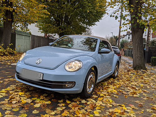 car wash, hand polishing, interior cleaning - East Sheen, London, SW14, VW Beetle