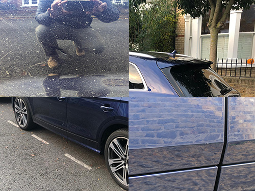 car wash, removing dry paint, interior cleaning - Clapham, London, SW4, Audi SQ5