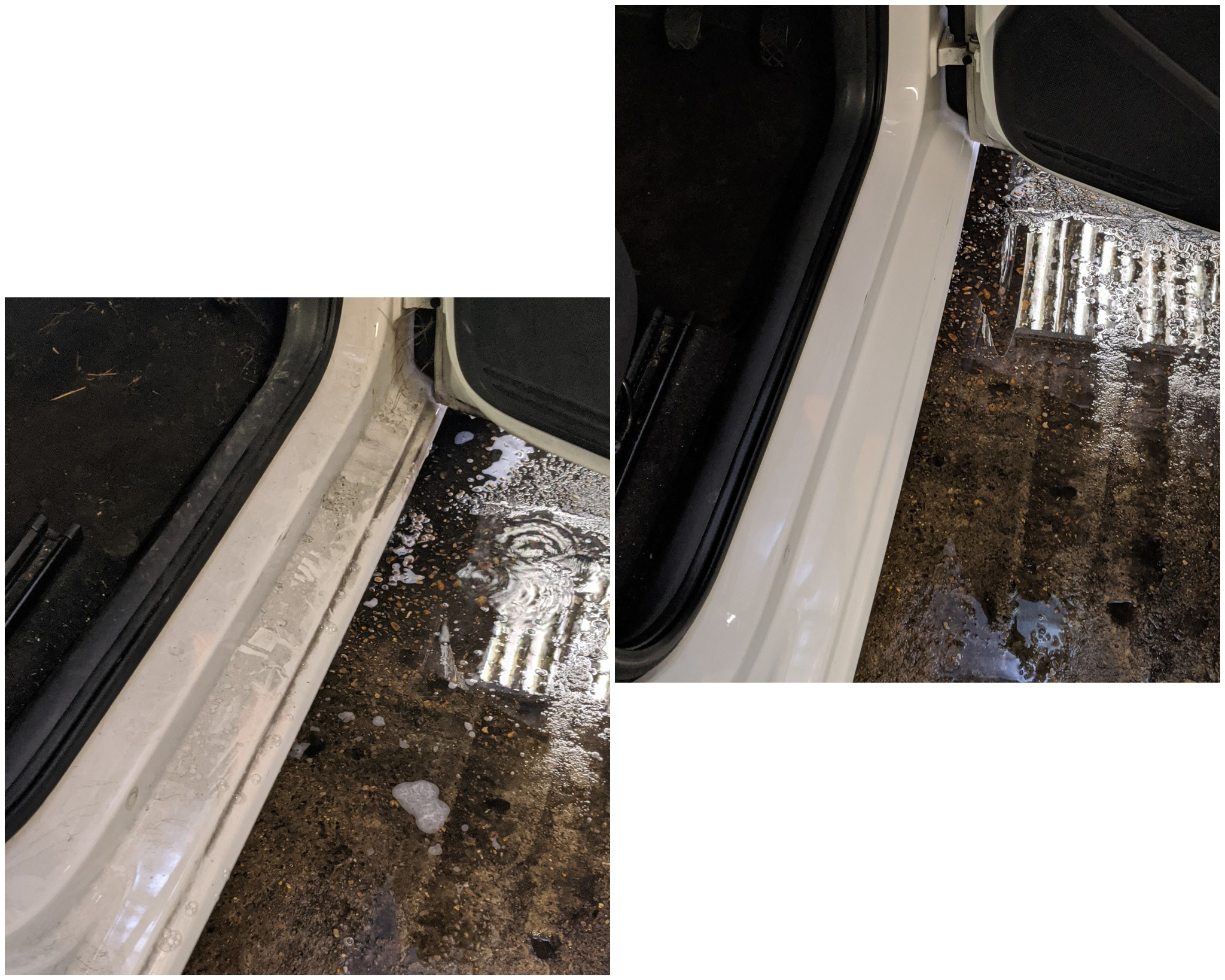 cleaning car seals - right, Richmond, London, TW9