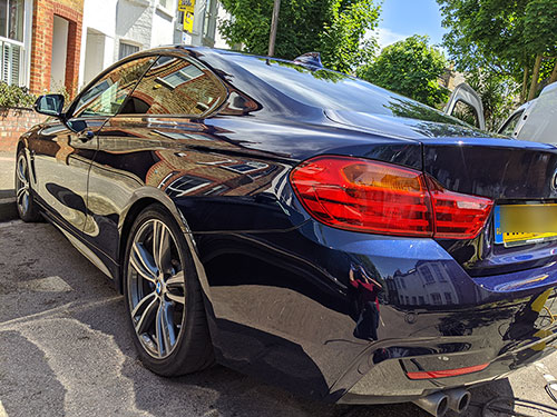 exterior valet - richmond, london, tw9, bmw 428i