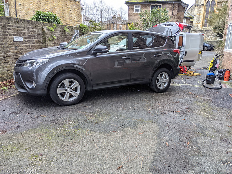 Full Valet, exterior cleaning, Richmond, London, TW10, Toyota Rav4