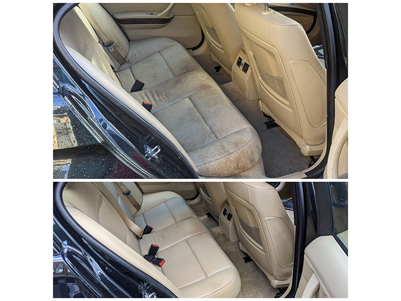 leather treatment, full valet, BMW, Richmond, London, TW9